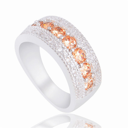 Classic Silver Plated Cubic Zirconia Ring Women Fashion Jewelry