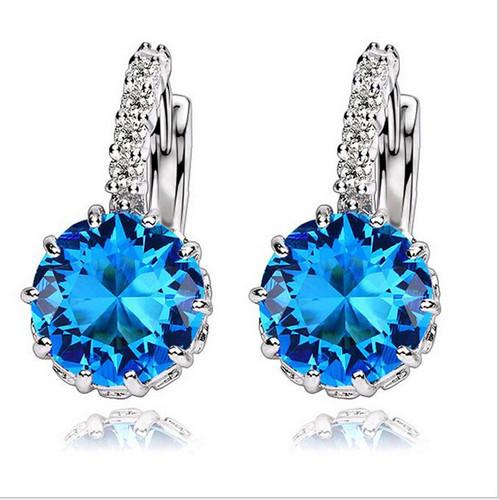 Beautiful Crystal Cubic Zirconia Earrings Women Fashion Jewelry