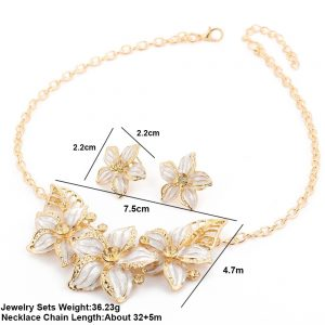 Luxury Crystal Earrings Pendant Necklace Women Fashion Jewelry Set