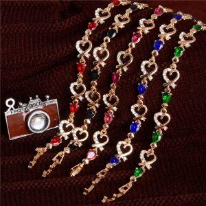 Lovely Crystal Cubic Zirconia Bracelet Women Fashion Jewelry