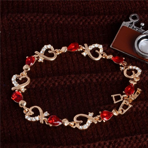 Lovely Crystal Cubic Zirconia Bracelet Women Fashion Jewelry