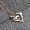 Attractive Heart Note Music Love Pendant Necklace Women Fashion Jewelry
