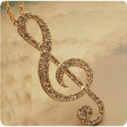 Attractive Music Note Pendant Necklace Women Fashion Jewelry