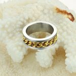 Classy Golden Chain Silver Plated Finger Ring Men fashion Jewelry