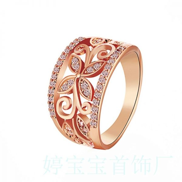 Fancy Crystal Rhinestones 3 Colors Ring Women Fashion Jewelry