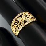 Fancy Crystal Rhinestones 3 Colors Ring Women Fashion Jewelry