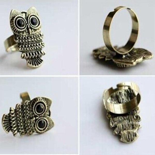 Cute Owl Adjustable Ring Vintage Women Fashion Jewelry