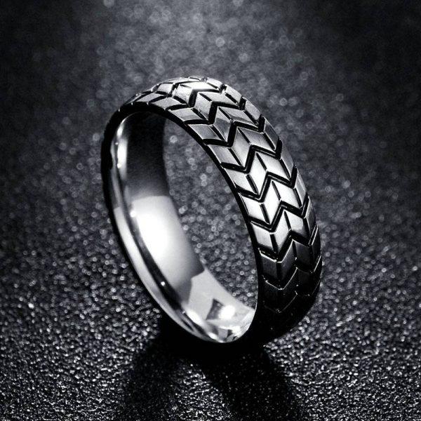 Fancy Stainless Steel Couple Ring Men Women Fashion Jewelry