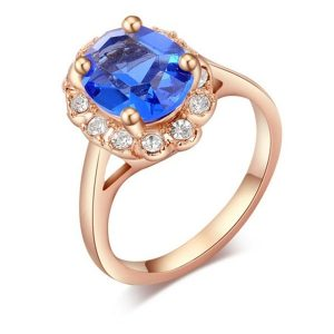 Beautiful Roxi Crystal Bridal Ring Rose Gold Women Ring 4 Colors