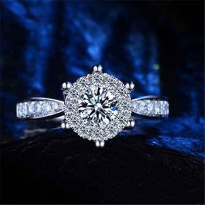 Super Gorgeous Shining Crystal Bridal Ring Women Fashion Jewelry