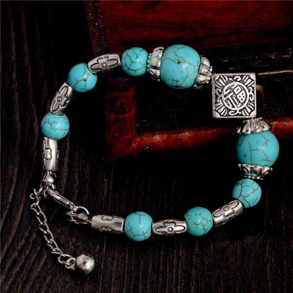 Handmade Turquoise Beads Bracelet Style 11