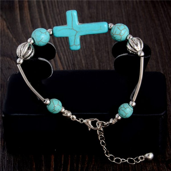 Handmade Turquoise Beads Bracelet Style 13