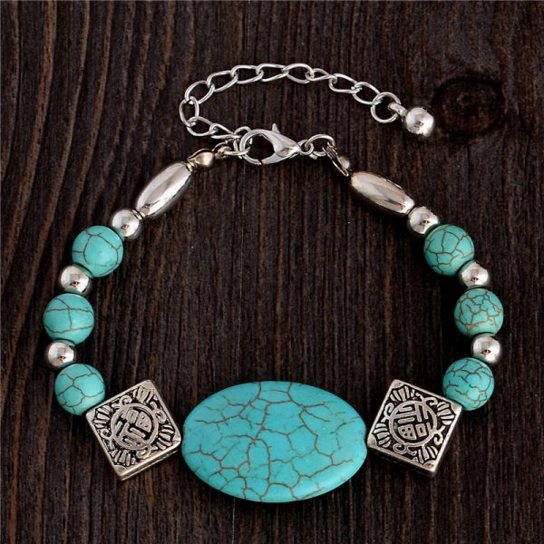 Handmade Turquoise Beads Bracelet Style 16