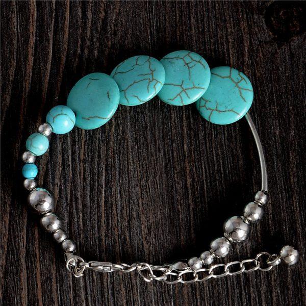 Handmade Turquoise Beads Bracelet Style 18