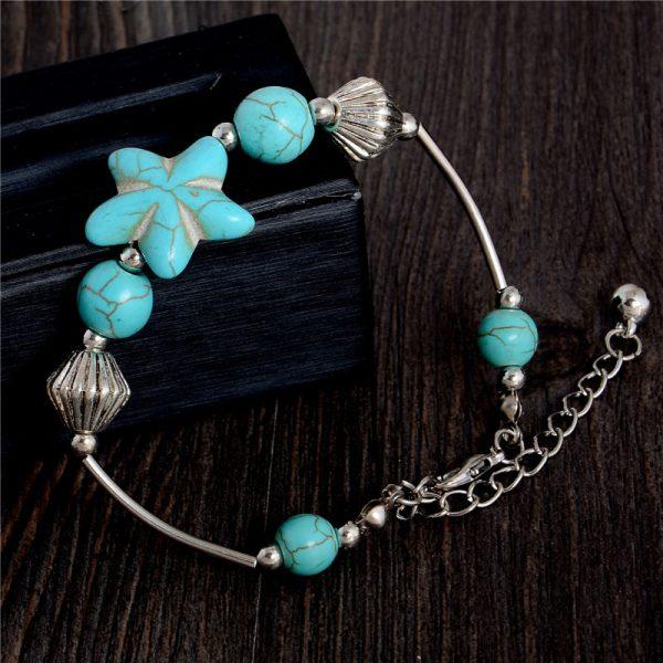 Handmade Turquoise Beads Bracelet Style 20