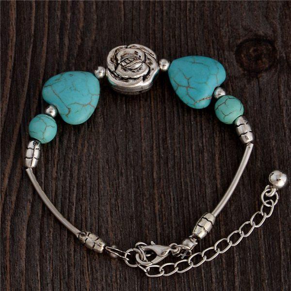 Handmade Turquoise Beads Bracelet Style 22