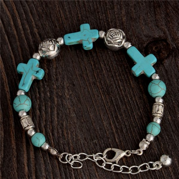 Handmade Turquoise Beads Bracelet Style 23