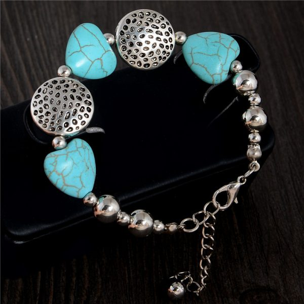 Handmade Turquoise Beads Bracelet Style 25