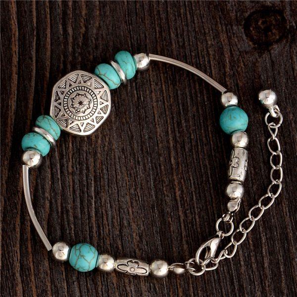 Handmade Turquoise Beads Bracelet Style 27