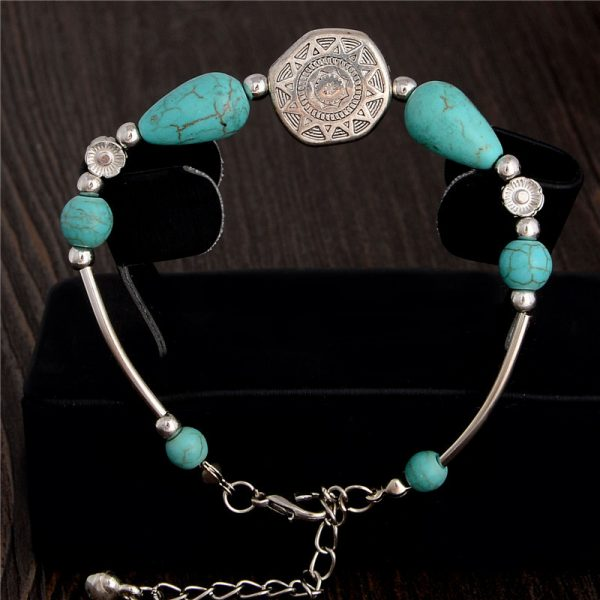 Handmade Turquoise Beads Bracelet Style 29