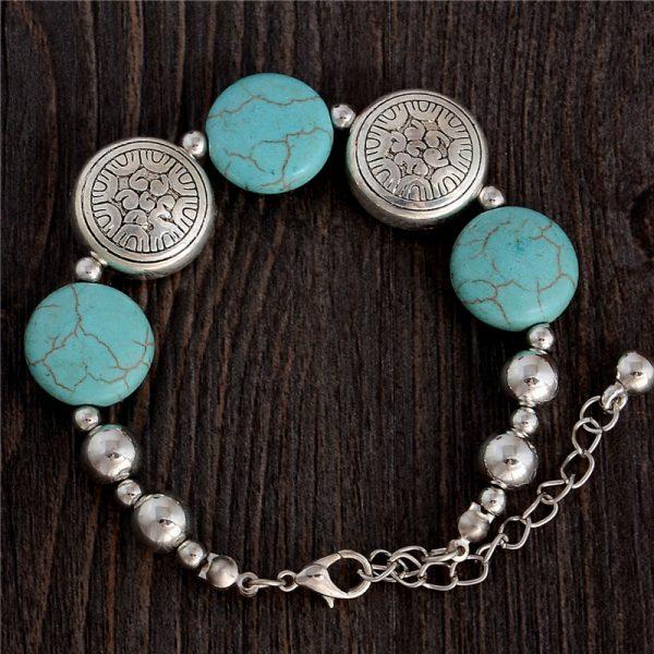 Handmade Turquoise Beads Bracelet Style 3