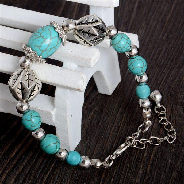 Handmade Turquoise Beads Bracelet Style 33
