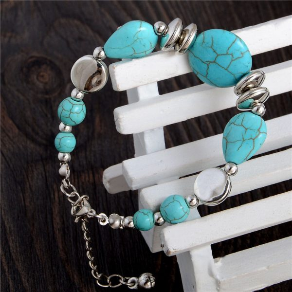 Handmade Turquoise Beads Bracelet Style 34