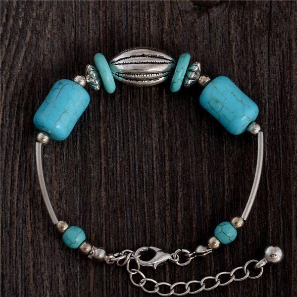 Handmade Turquoise Beads Bracelet Style 35