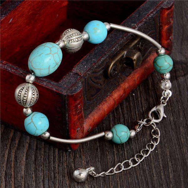 Handmade Turquoise Beads Bracelet Style 37