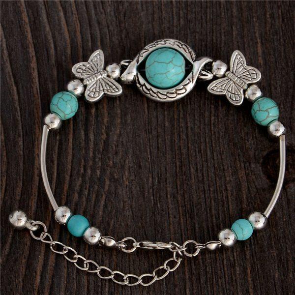 Handmade Turquoise Beads Bracelet Style 4