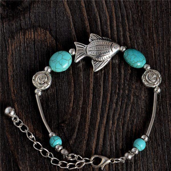 Handmade Turquoise Beads Bracelet Style 44