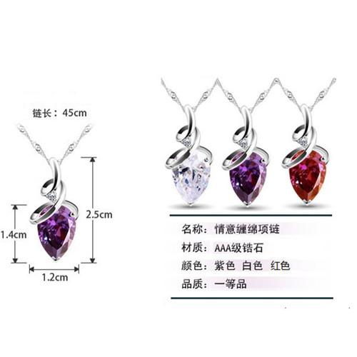 Graceful Crystal Rhinestones Pendant Necklace Women Fashion Jewelry