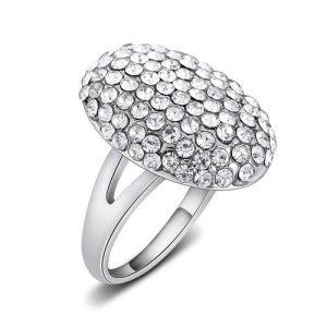 Beautiful Bundle Cubic Zirconia Oval Ring Women Fashion Jewelry