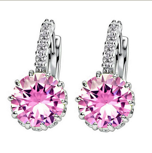 Beautiful Crystal Cubic Zirconia Earrings Women Fashion Jewelry