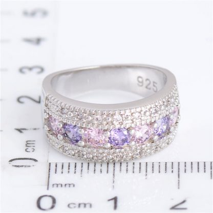 Classic Champagne Cubic Zirconia Ring Women Fashion Jewelry