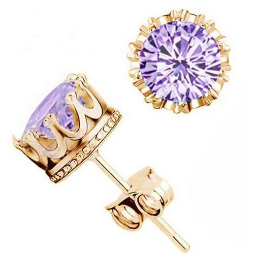 Elegant Crystal Cubic Zirconia Earrings Women Fashion Jewelry