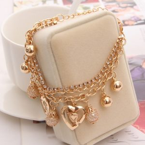 Charming MultiLayer Heart Bracelet Women Fashion Jewelry