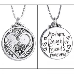 Silver Plated LOVE Personalized Heart Women Pendant Necklace