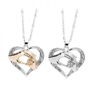 Elegant Heart Mother Day Gift Women Pendant Necklace Fashion Jewelry