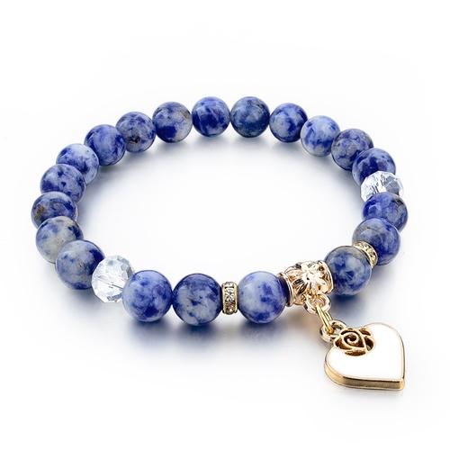 Natural Stone Gold Plated Men Women Bracelet Fashion Jewelry Unisex