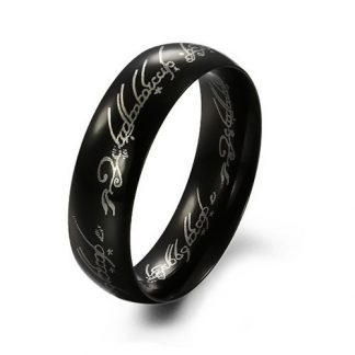 Significant Cheerful Black Metal Men Ring Fashion Jewelry