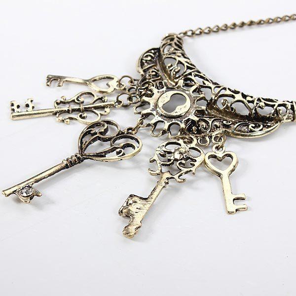 Key Pendant Sweater Necklace Women Fashion Jewelry