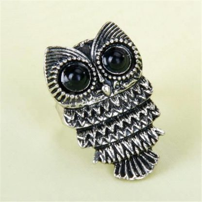 Cute Owl Adjustable Ring Vintage Women Fashion Jewelry