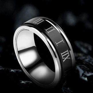 Classic Roman Number Printed Men Women Ring Fashion Jewelry