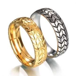 Fancy Stainless Steel Couple Ring Men Women Fashion Jewelry