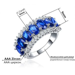 Nice Cubic Zirconia Silver Plated Band Ring Women Fashion Jewelry