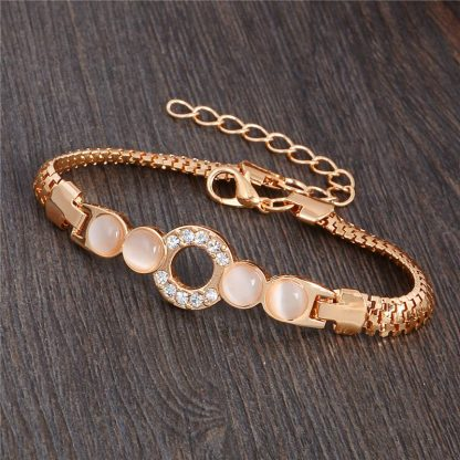 Fashion Jewelry Bracelet Ladies Styles 1 18 K Gold Plated