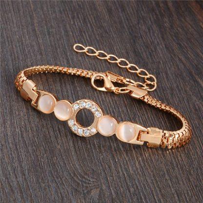 Fashion Jewelry Bracelet Ladies Styles 1 18 K Gold Plated