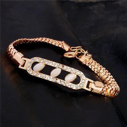 Fashion Jewelry Bracelet Ladies Styles 3 18 K Gold Plated