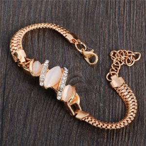 Fashion Jewelry Bracelet Ladies Styles 5 18 K Gold Plated